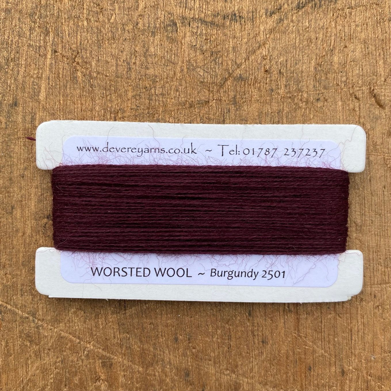 2501 Burgundy - 2/25's Worsted Wool Count - Embroidery Thread